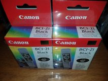 CANNON BCI -21 Black Printer Ink Cartridge Twin Pack in Joliet, Illinois
