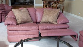Leather Reclining Love Seat, 3 available (also has matching oversized chairs) in Bartlett, Illinois