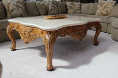 Coffee Table with carved legs and granite top in Algonquin, Illinois