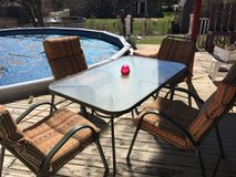 5 PIECE PATIO SET WITH CUSHIONS in Chicago, Illinois