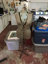 Antique Size Adjustable dress form on rod iron stand in Conroe, Texas