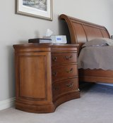 King Sleigh Bed Set with Serta Pillowtop Mattress/Box Spring and Night Stand (2) in Bartlett, Illinois