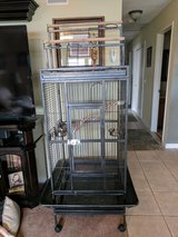 Beautiful large double play top bird cage.  Like New!!!! in Vacaville, California