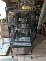 Wrought iron bird cage.  Nice condition. in Travis AFB, California
