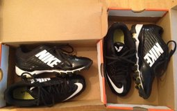 2 pairs of Boys Nike Cleats size 3Y in Beaufort, South Carolina