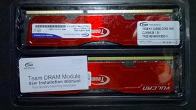 Used Team Vulcan 16GB (2x8GB) 240-Pin SDRAM DDR3 1600 (PC3 12800) Desktop Memory in Chicago, Illinois