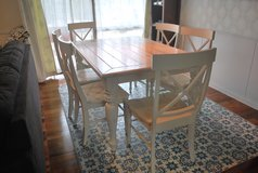White Farmhouse Dining Table Set with leaf in Okinawa, Japan