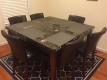 Dark Granite Tall Table and 6 Chairs in Bolling AFB, DC