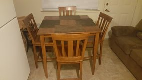 High dining table with 4 four in Fort Polk, Louisiana