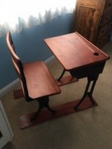 EARLY 1900 CHILD SCHOOL DESK WITH A SEAT in Lockport, Illinois