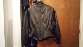 women motorcycle leather jacket size small and vest size med. in Camp Lejeune, North Carolina