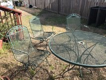 Medal Rocking Patio Table w/4 Chairs in Camp Lejeune, North Carolina