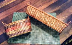 Set of 2 Wicker Baskets with Handles in Wilmington, North Carolina