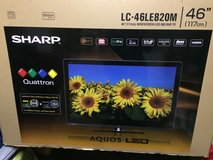 "SHARP AQUOS 46"" LC46LE820M QUATRON LED MULTISYSTEM TV FOR 110-220 VOLTS in Ramstein, Germany"