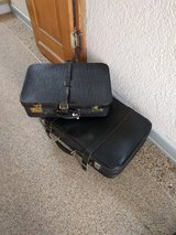 2 old leather suitcases in Ramstein, Germany