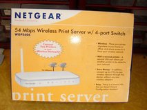 NetGear WGPS606 54 Mbps Wireless Print Server 4 Port Switch in Sacramento, California