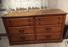 Wooden Dresser (6 Drawers) with Mirror in Ramstein, Germany