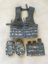 US Military Molle Tactical load bearing vest LBV ACU WITH POUCHES in Beaufort, South Carolina