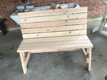 Bench, 2x4 white pine without arms in Alexandria, Louisiana