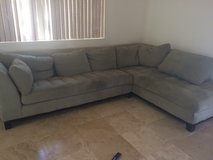 Suede Sectional Couch in 29 Palms, California