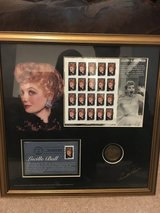 Limited edition Lucille Ball stamp collection framed in Valdosta, Georgia