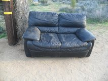 ##  Black Leather Loveseat  ## in 29 Palms, California