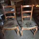 Blond Wood Rush Seats Ladder Back Chairs in Cleveland, Ohio