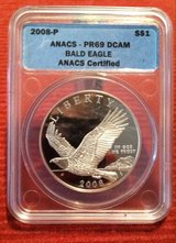 2008-P ANACS PR69DCAM Bald Eagle Commemorative Dollar in Fort Leonard Wood, Missouri
