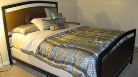 Queen Size Bed with Box-Spring and Mattress in Hampton, Virginia