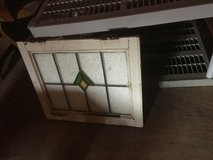 OLD Leaded, Stained Glass Window in Wood Frame with Hinges - Casement in Cleveland, Ohio