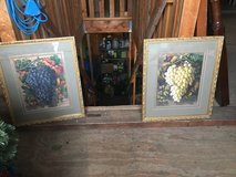 S/2 Prints Grapes  Gold Frame in Cleveland, Ohio