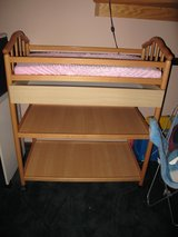 Oak Changing Table-Reduced in Naperville, Illinois
