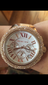 Michael Kors rose gold watch in Chicago, Illinois