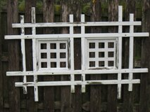 White Weathered Wood Trellis in Chicago, Illinois