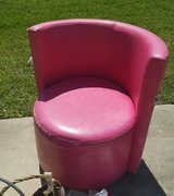 Pink Swivel Chair in CyFair, Texas
