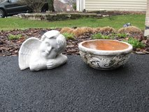 Cute Clay Pot and Garden Angel in Lockport, Illinois