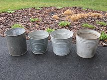 4 Galvanized Buckets in Chicago, Illinois