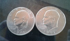"(2) Two ""IKE"" `1971 bu Dollar Coins Type 1 in Byron, Georgia"