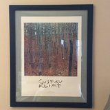 "Gustav Klimt poster, matted and framed 25 1/2""x 30"" in frame in St. Charles, Illinois"