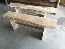 Hand made live edge benches in Camp Lejeune, North Carolina