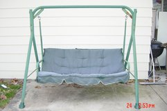 Swing with frame and shade cover in Chicago, Illinois