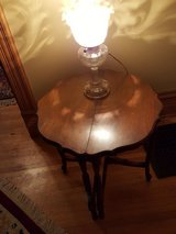 Pair of half round tables in Chicago, Illinois