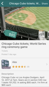Cubs World Series ring ceremony game in Naperville, Illinois