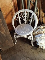 Wicker vanity and chair in Chicago, Illinois