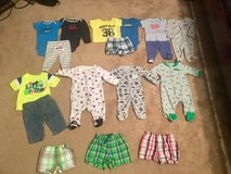 NB boys outfits, jeans shorts sleepers Like new in Byron, Georgia
