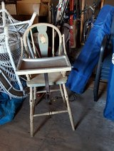 Vintage high chair in Chicago, Illinois