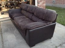 LARGER, LEATHER, SUEDE SOFA in The Woodlands, Texas