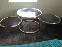 Glass three ring table in Dothan, Alabama