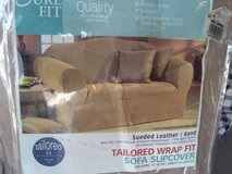sure fit sueded couch cover, fits sofa 74 to 94 in in Yucca Valley, California
