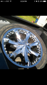 "20"" RIMS & TIRES 5 LUGS UNIVERSAL in Fort Polk, Louisiana"